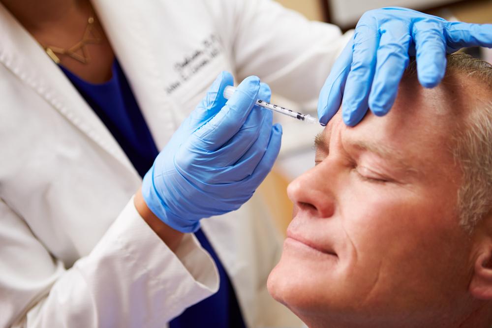 Man Having Botox Treatment In Bergen County New Jersey